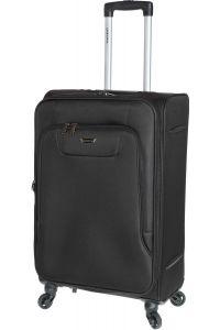 Βαλίτσα Μεσαία 67cm με 4 Ρόδες & Επέκταση Diplomat ZC984-61 Μαύρο