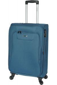 Βαλίτσα Μεσαία 67cm με 4 Ρόδες & Επέκταση Diplomat ZC984-61 Πετρολ