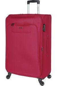 Βαλίτσα Μεγάλη 77cm με 4 Ρόδες & Επέκταση Diplomat ZC984-71 Κόκκινο
