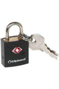 Κλειδαριά TSA με Κλειδί Diplomat ACLOCK1 Μαύρο
