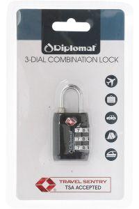 Κλειδαριά με 3ψήφιο Συνδυασμό Diplomat ACLOCK3 Μαύρο
