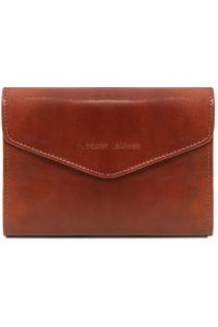 Γυναικείο Πορτοφόλι Δερμάτινο 140786 Καφέ Tuscany Leather
