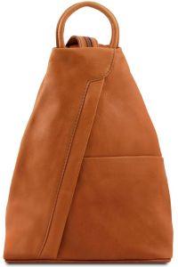 Γυναικείο Τσαντάκι Δερμάτινο Shanghai Κονιάκ Tuscany Leather