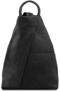 Γυναικείο Τσαντάκι Δερμάτινο Shanghai Μαύρο Tuscany Leather