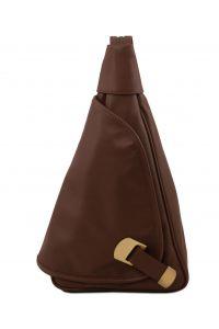 Γυναικείο Τσαντάκι Δερμάτινο Hanoi Καφέ σκούρο Tuscany Leather