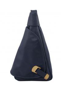 Γυναικείο Τσαντάκι Δερμάτινο Hanoi Μπλε σκούρο Tuscany Leather