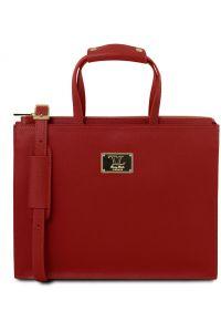 Γυναικεία Επαγγελματική Τσάντα Δερμάτινη Palermo Κόκκινο Tuscany Leather