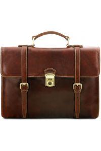 Ανδρική Επαγγελματική Τσάντα Δερμάτινη Viareggio Καφέ Tuscany Leather