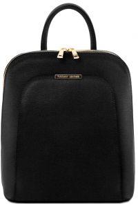Τσάντα Πλάτης Δερμάτινη TL Bag 141631 Μαύρο Tuscany Leather