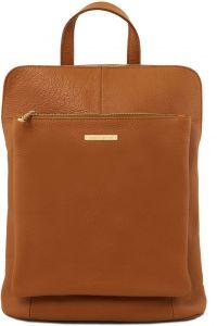 Γυναικεία Τσάντα Πλάτης - Ώμου Δερμάτινη TL141682 Κονιάκ Tuscany Leather