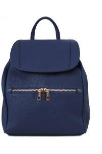 Γυναικεία Τσάντα Πλάτης Δερμάτινη TL141697 Μπλε σκούρο Tuscany Leather