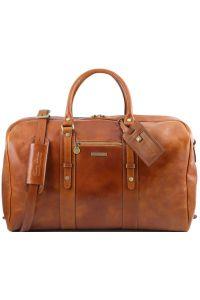 Σάκος ταξιδίου δερμάτινος TL Voyager - TL141401 Μελί Tuscany Leather