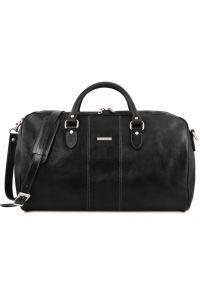 Σάκος ταξιδίου δερμάτινος - Lisbona Μαύρο Tuscany Leather