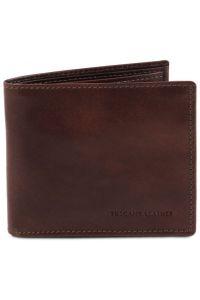 Ανδρικό Πορτοφόλι Δερμάτινο TL140761 Καφέ σκούρο Tuscany Leather