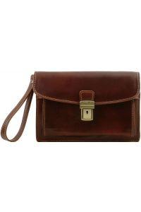Ανδρικό Τσαντάκι Δερμάτινο Max Καφέ Tuscany Leather