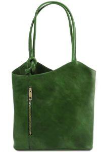 Γυναικεία Τσάντα Δερμάτινη Patty Πράσινο Tuscany Leather