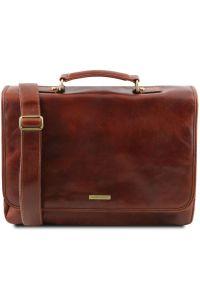 Ανδρική Τσάντα Δερμάτινη Mantova με Smart Connect™ Καφέ Tuscany Leather