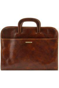 Επαγγελματική Τσάντα Δερμάτινη Sorrento Καφέ Tuscany Leather