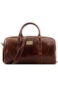 Σάκος Ταξιδίου Δερμάτινος Francoforte S Καφέ Tuscany Leather