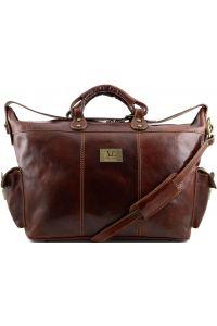 Σάκος Ταξιδίου Δερμάτινος Porto Καφέ Tuscany Leather