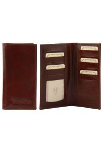 Δερμάτινο Πορτοφόλι / Θήκη TL140784 Καφέ Tuscany Leather