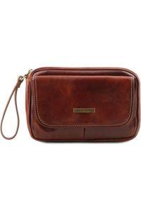 Ανδρικό Τσαντάκι Δερμάτινο Ivan Καφέ Tuscany Leather