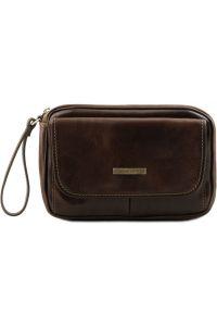Ανδρικό Τσαντάκι Δερμάτινο Ivan Καφέ σκούρο Tuscany Leather