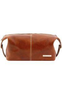 Θήκη - Τσαντάκι Καλλυντικών Δερμάτινο Roxy Μελί Tuscany Leather