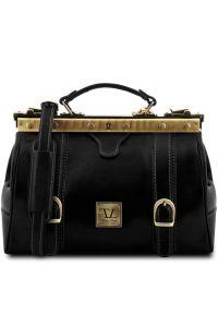 Ιατρική Τσάντα Δερμάτινη Mona Lisa Μαύρο Tuscany Leather