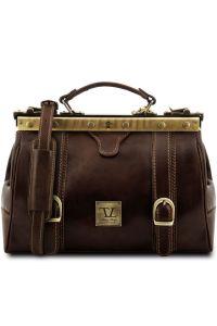 Ιατρική Τσάντα Δερμάτινη Mona Lisa Καφέ σκούρο Tuscany Leather