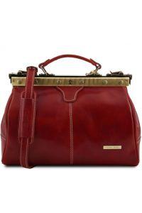 Ιατρική Τσάντα Δερμάτινη Michelangelo Κόκκινο Tuscany Leather