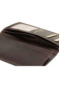 Δερμάτινο Πορτοφόλι / Θήκη TL140777 Καφέ σκούρο Tuscany Leather