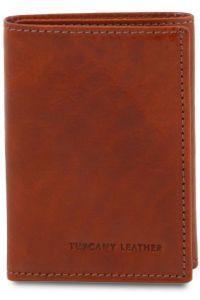 Δερμάτινη θήκη για κάρτες TL140801 Καφέ Tuscany Leather