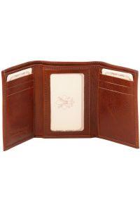 ddd904d52b Δερμάτινη θήκη για κάρτες TL140801 Καφέ Σκούρο Tuscany Leather