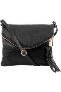 Γυναικείο Τσαντάκι Δερμάτινο TL Young Bag TL141153 Μαύρο Tuscany Leather