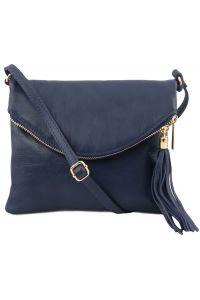 Γυναικείο Τσαντάκι Δερμάτινο TL Young Bag TL141153 Μπλε σκούρο Tuscany Leather