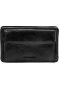 Ανδρικό Τσαντάκι Δερμάτινο Denis Μαύρο Tuscany Leather
