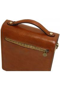 Ανδρικό Τσαντάκι Δερμάτινο David S Μαύρο Tuscany Leather
