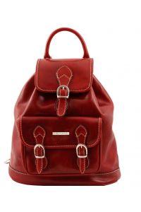 Τσάντα Πλάτης Δερμάτινη Singapore Κόκκινο Tuscany Leather
