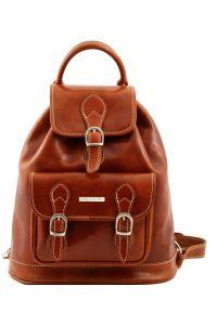Τσάντα Πλάτης Δερμάτινη Singapore Μελί Tuscany Leather