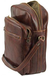 Ανδρικό Τσαντάκι Δερμάτινο Oscar Καφέ Tuscany Leather
