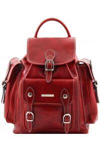 Τσάντα Πλάτης Δερμάτινη Pechino Κόκκινο Tuscany Leather