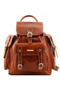 Τσάντα Πλάτης Δερμάτινη Pechino Μελί Tuscany Leather