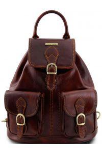 Τσάντα Πλάτης Δερμάτινη Tokyo Καφέ Tuscany Leather