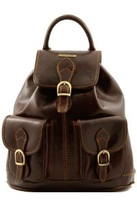 Τσάντα Πλάτης Δερμάτινη Tokyo Καφέ σκούρο Tuscany Leather