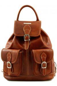 Τσάντα Πλάτης Δερμάτινη Tokyo Μελί Tuscany Leather
