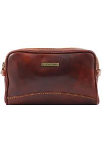 Θήκη - Τσαντάκι Καλλυντικών Δερμάτινο Igor Καφέ Tuscany Leather