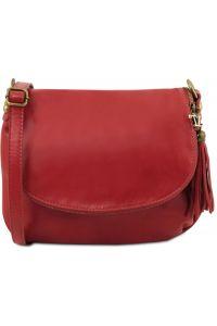 Γυναικεία Τσάντα Δερμάτινη TL141223 Κόκκινο Tuscany Leather