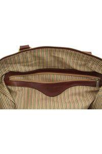 Σάκος Ταξιδίου Δερμάτινος TL Voyager S TL141216 Καφέ σκούρο Tuscany Leather