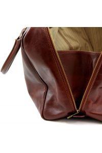 Σάκος Ταξιδίου Δερμάτινος TL Voyager Καφέ Tuscany Leather